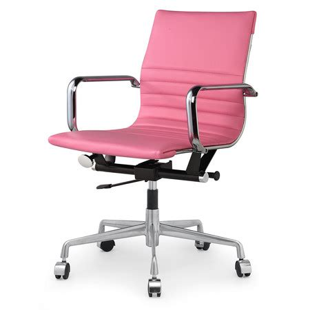 pink vegan leather  modern office chairs zin home