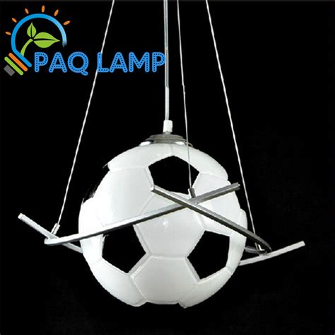 Lighting Fixtures For Boys Room Football L Chandelier Light Kid S Room Lighting Boys Diameter25cm Football Pendant Bedroom