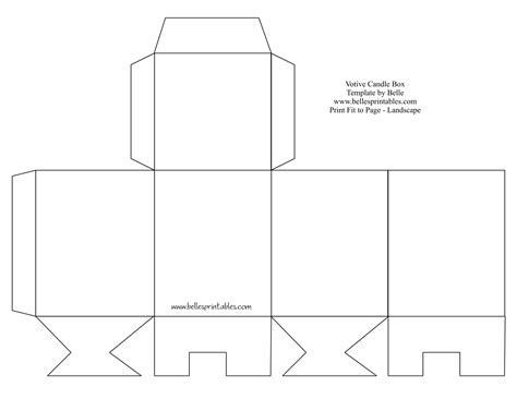 cut out box template votive candle box needs changing the bottom does not
