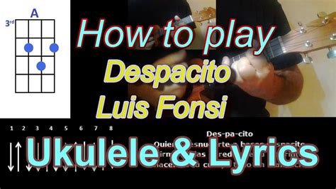 despacito ukulele justin bieber how to play despacito by luis fonsi ukulele cover youtube