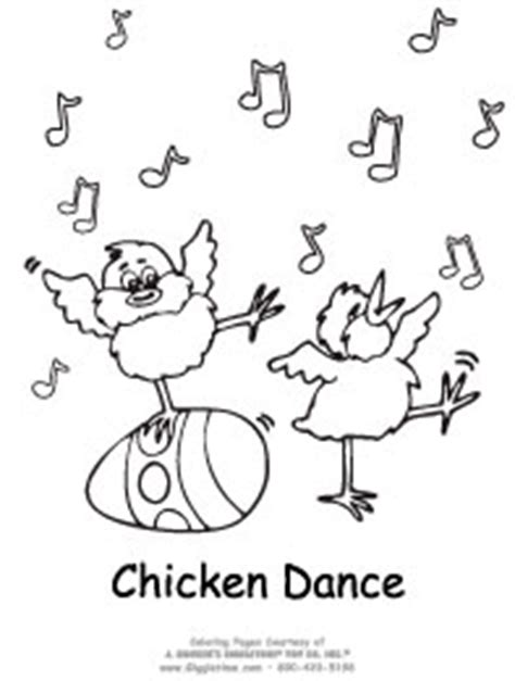 chicken dance coloring page easter coloring pages giggletimetoys com