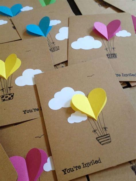 imagenes tarjetas originales ideas originales para hacer invitaciones de cumplea 241 os caseras