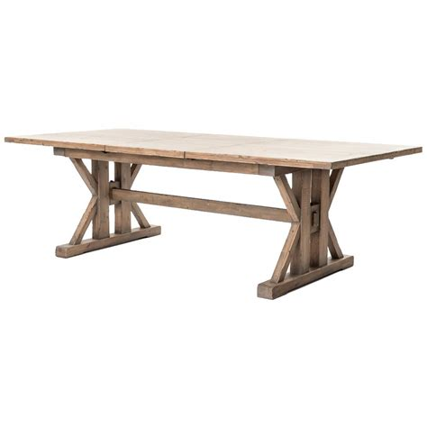 Dining Table Pine Lyle Lodge Reclaimed Pine Adjustable Dining Table Kathy Kuo Home