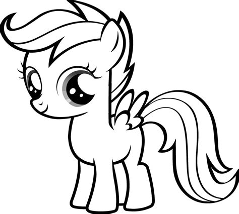 coloring pages  blank pony   pony