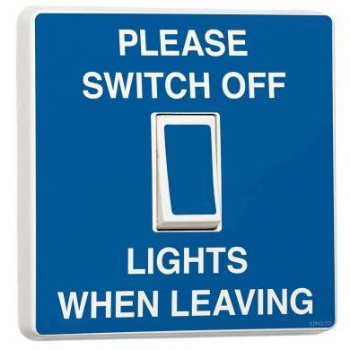 turn on light switch switch turn lights when leaving blue light