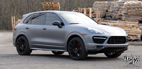 porsche cayenne matte grey designer wraps custom vehicle wraps fleet wraps color