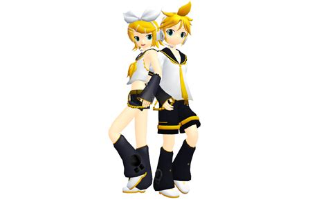 len 3d mmd kagamine rin and len ver2 and ver3 by