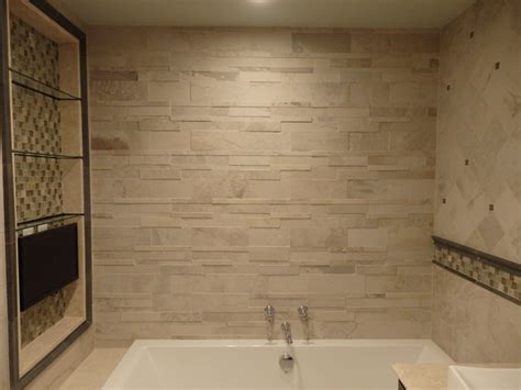 bathroom tile designs pictures quot stone look quot master bathroom design by katelyn dessner