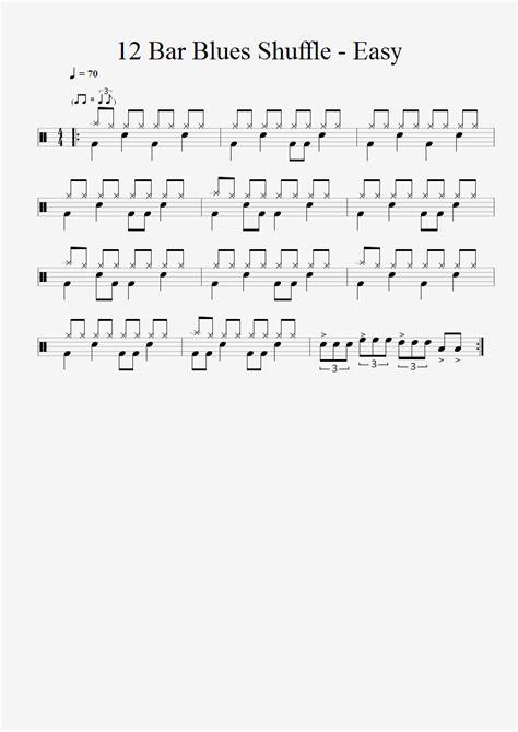 drum pattern blues 12 bar blues shuffle easy
