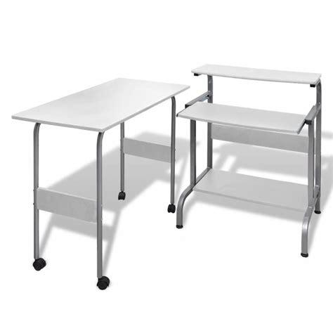table pour bureau acheter table de bureau r 233 glable blanche pour ordinateur