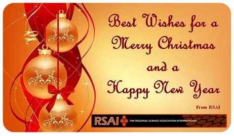 regional science  wishes   merry christmas   happy  year  rsai