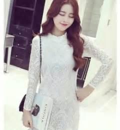 Dress Turtle Twiss Mini Dress Wanita kemeja kerja wanita import putih lengan panjang model