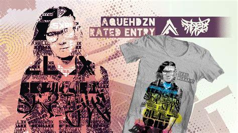 Tshirt Skrillex Vi skrilography skrillex poster t shirt entry to