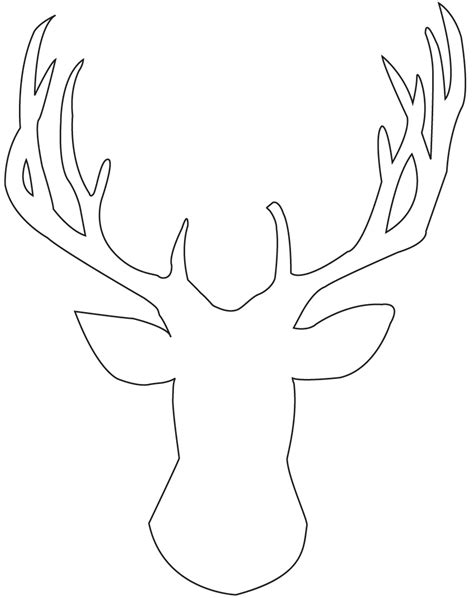 diy deer template diy stag silhouette