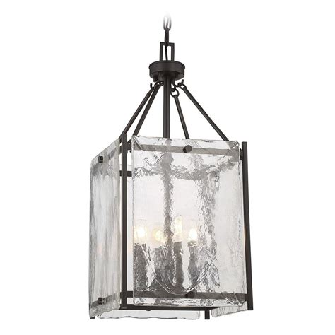 Square Pendant Light Savoy House Lighting Glenwood Bronze Pendant Light With Square Shade 3 3041 4 13