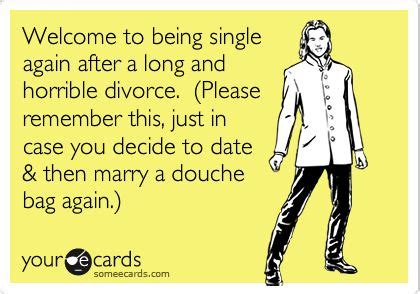 How to be single again after divorce