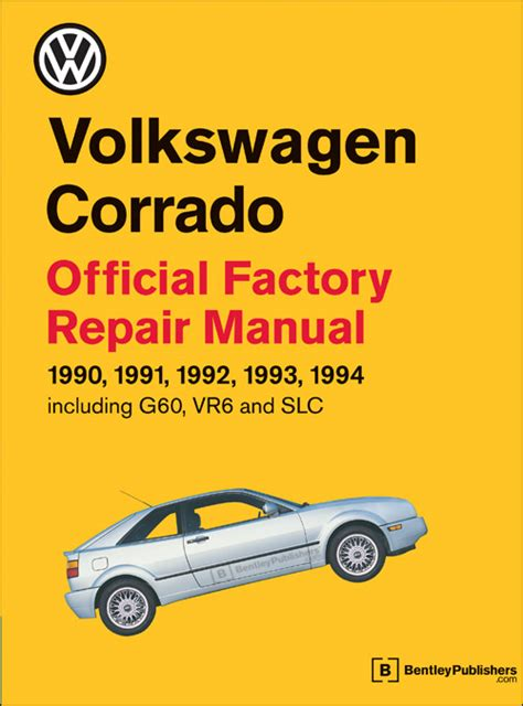 online car repair manuals free 1994 volkswagen corrado user handbook front cover vw volkswagen repair manual corrado 1990 1994 bentley publishers repair