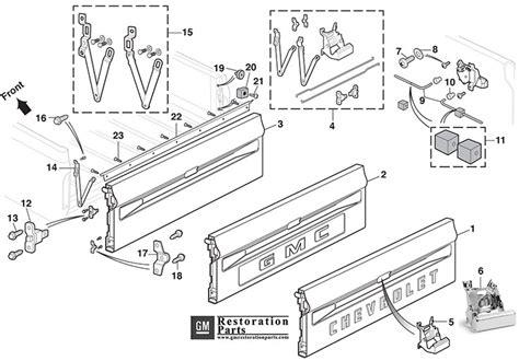 2000 gmc sonoma tailgate diagram imageresizertool diagram for s10 blazer tailgate wiring library