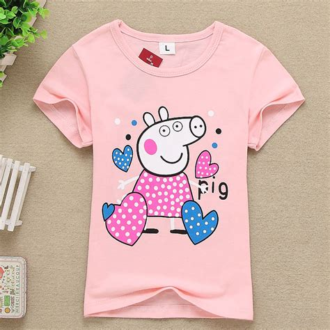 tops pig 2016 summer style t shirt children baby pig clothes boys cotton tops tees