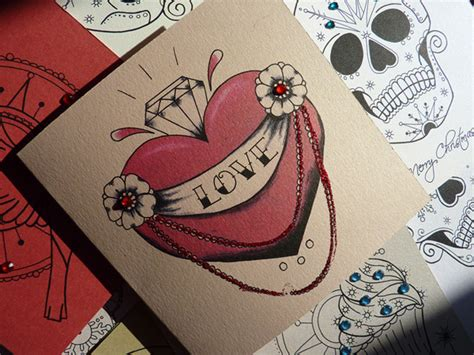 tattoo nation la valentine handmade tattoo valentines cards ideas
