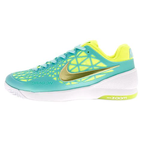 nike s zoom cage 2 tennis shoes light aqua and white