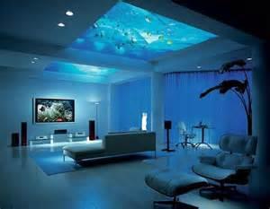 room aquarium bed made of fish tank aquarium made the ceiling of room image home decor pinterest