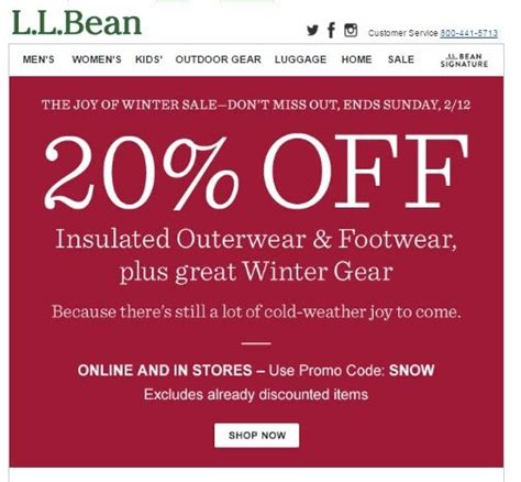 Ll Bean Promotional Gift Card Code - llbean 20 coupon code mega deals and coupons