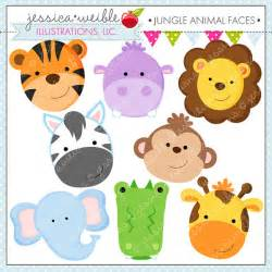 Alligator Crafts For Kids - jungle animal faces cute digital clipart commercial use ok jungle animal clipart jungle