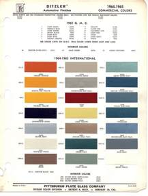 paint chips 1965 international truck commercial