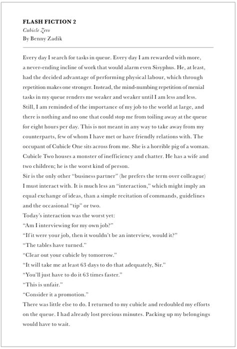 Creative Essay Exle by Creative Writing Sles Benjamin Zadik