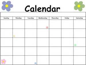 calendar template for children flower printable calendar calendar printable printable