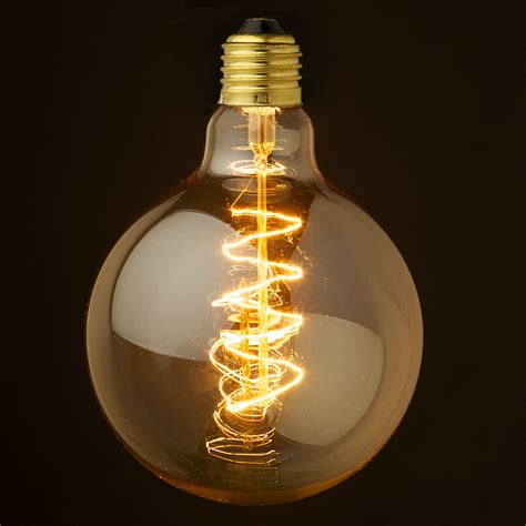 edison light bulb vintage edison spherical spiral filament bulb 125mm