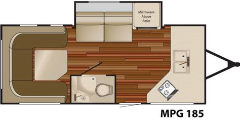 mpg travel trailer floor plans 2011 heartland mpg 185 travel trailer southaven ms