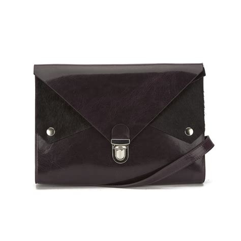 Kate Sheridans Leather Pocket Bag by Kate S Tuck Tite Clutch Cross Bag