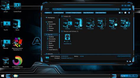 download theme windows 7 alienware evolution alienware evolution themepack for win7 8 8 1 skinpack