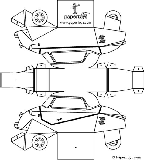 Paper Folding Car - messerschmitt car paper cutouts by papertoys
