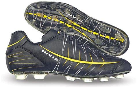 nivia football shoes flipkart nivia premier cleats football shoes buy 310 black color