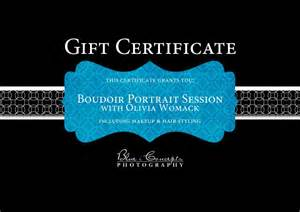 photoshoot gift certificate template blue i concepts photography arizona boudoir photographer