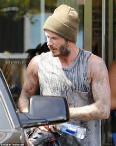 Beckham Thinks Arms Are Flabby 2 by David Beckham Flexes His Tattooed Biceps After An