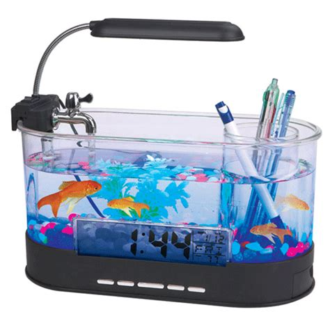 Led Aquarium Bandung usb desktop aquarium mini fish tank with running water ls0405 transparent jakartanotebook
