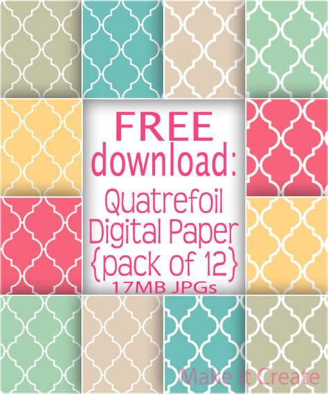printable paper pack make it create by lillyashley freebie downloads free