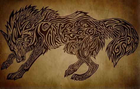 tribal wolf wallpaper wallpapersafari