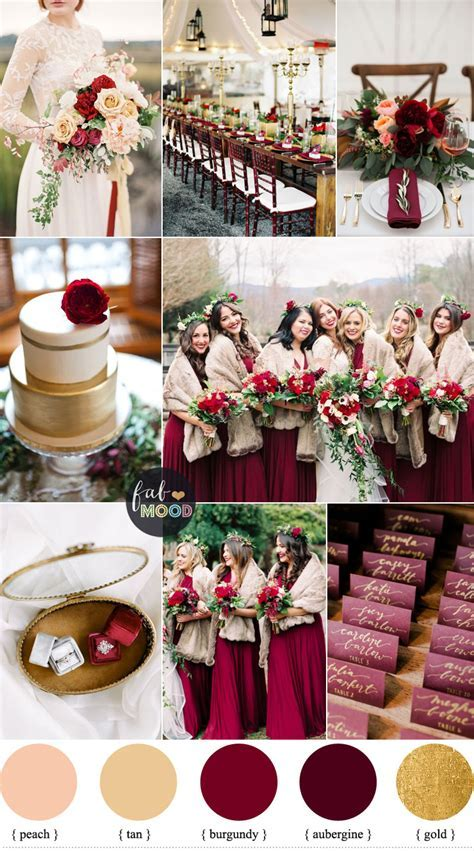 Aubergine and burgundy for Rustic Elegant Winter Wedding