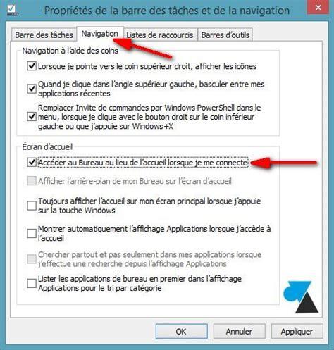 windows 8 mode bureau d 233 marrer windows 8 1 directement sur le bureau
