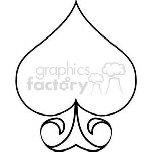 spade outline illustration clipart royalty  clipart