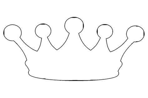 printable crown to color best crown coloring page 85 4989