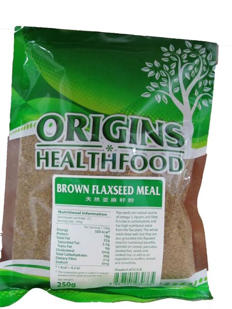 Brown Flaxseed 250 Gram healthy living 123 origins brand 250 gram brown flaxseed