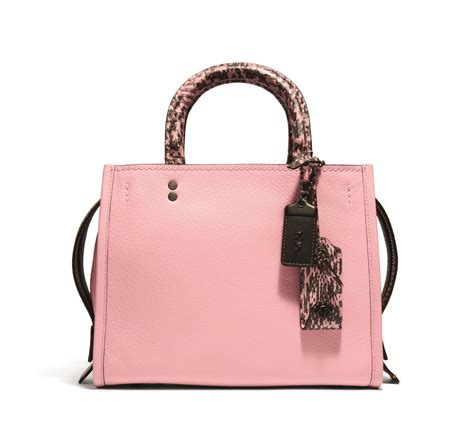 Rogue 25 In Glovetanned Pebble Leather Colorblock Snake 59235 Pink s lifestyle the posh