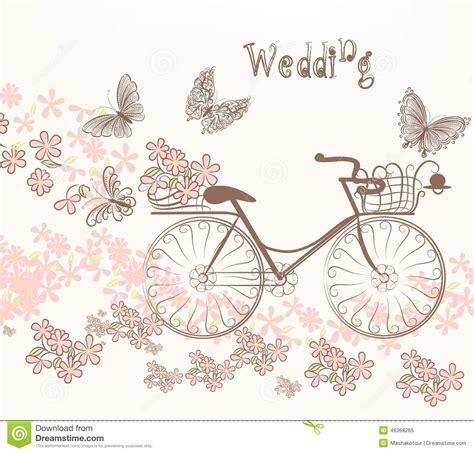 hacer imagenes retro ejemplo con la bicicleta y las flores del arte en estilo