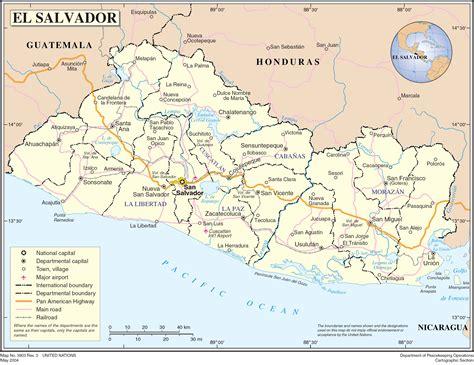 el salvador en el mapa mundi mapa de el salvador online map